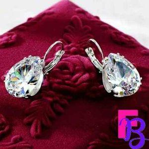 LARGE Stunning CZ Tear Drop Earrings